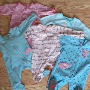 Newborn Baby GIRL lot of Carters sleepers! 💕
